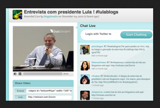 Lula dá entrevista à blogosfera – a potência do digital